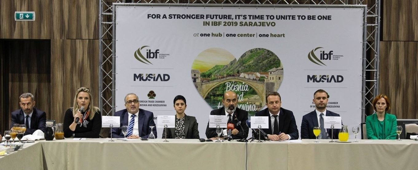 INTERNATIONAL BUSINESS FORUM TO SUPPORT BOSNIA'S DEVELOPMENT